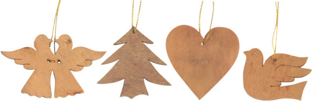 aromatic Cinnamon bark Christmas Ornaments.