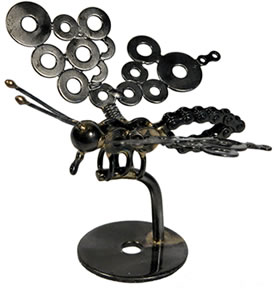 recycled metal butterfly.