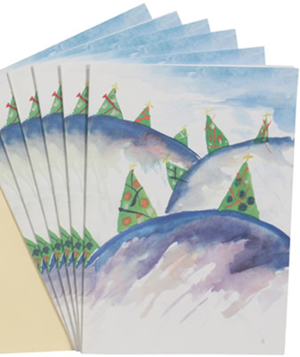 Forest design Christmas Cards help improve lives of children.