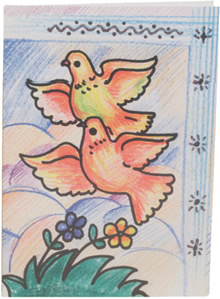 Dove greeting card.