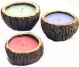Brazil Nut candles from Peru.