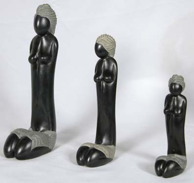 Haitan Soapstone carvings of women.