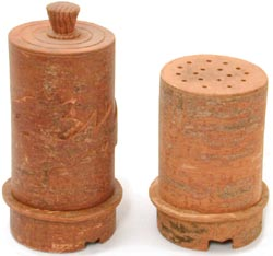 HTQ - Cinnamon Toothpick holder, and STQ - Cinnamon Shaker.