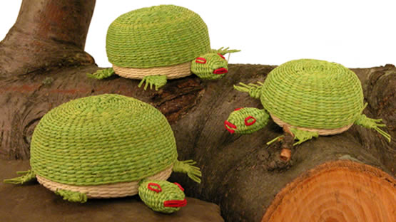 Jipijapa Turtles - from Bolivia - woven from a palm plTurtle.