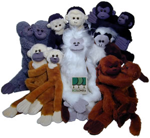 Lots of plush monkeys from Colombia.