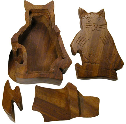 Cat puzzle - dismantled.