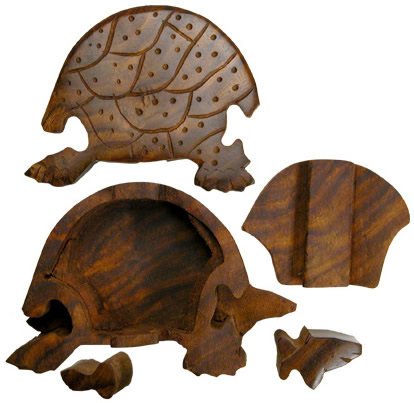 Turtle puzzle - dismantled.