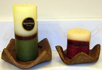 pillar candles from Guatemala.