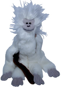 cotton top tamarin neck-hanging monkey - available in large and small sizes.